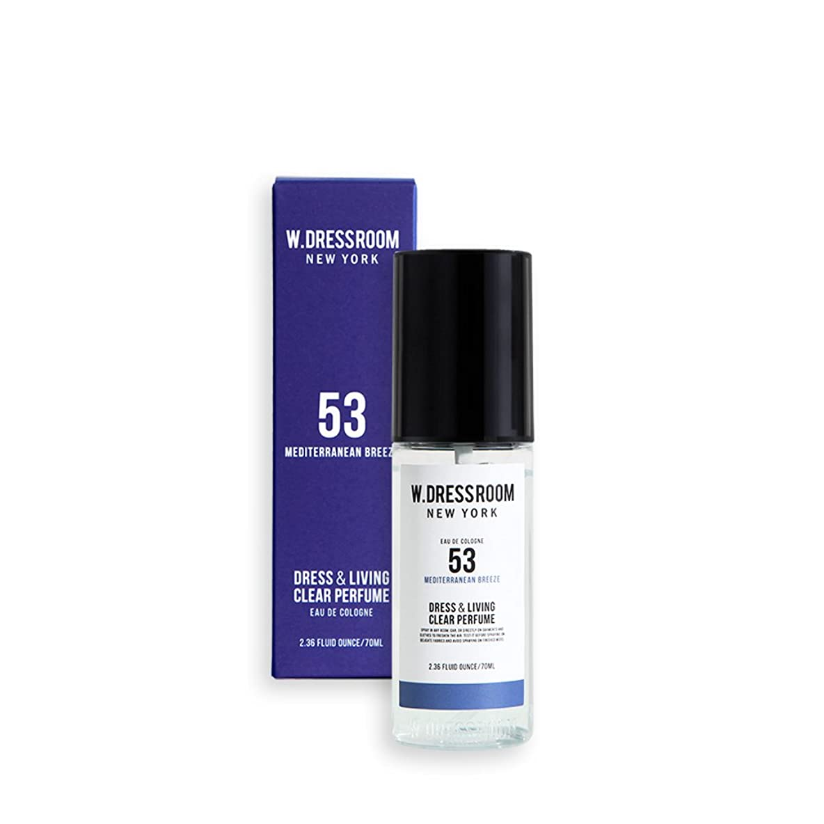 視力リップキャップW.DRESSROOM Dress & Living Clear Perfume 70ml/ダブルドレスルーム ドレス&リビング クリア パフューム 70ml (#No.53 Mediterranean Breeze) [並行輸入品]