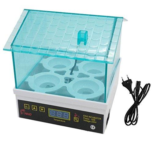 Baoblaze Boîte de Incubateur d'œufs Automatique 4-œufs Couveuse pour Volailles Prise-EU