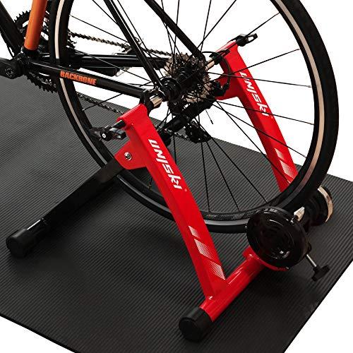 UNISKY Fahrradtrainer Ständer Indoor Übung Magnet Fahrrad Trainingsständer Reitständer für Mountain- & Rennrad