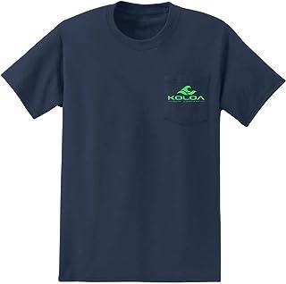 Koloa Surf Pocket Logo Tee Classic 2-Sided Wave Logo Heavy Cotton T-Shirts