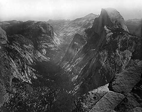 Yosemite National Park, Yosemite Valley and Half Dome Photograph (36x54 Giclee Gallery Print, Wall Decor Travel Poster)