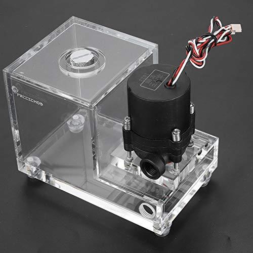 KSTE Voll Transparent Integrierte 600ML PC Gekühlte Wasserpumpe Acrylwasser-Kühltank 600L / H