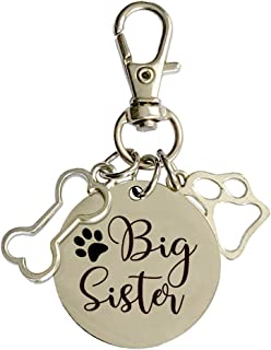 family Kitchen Big Sister Pregnancy Announcement Dog Tag, Gender Reveal Photo Prop Pet Tag,Dog Collar Tags Decoration Gift