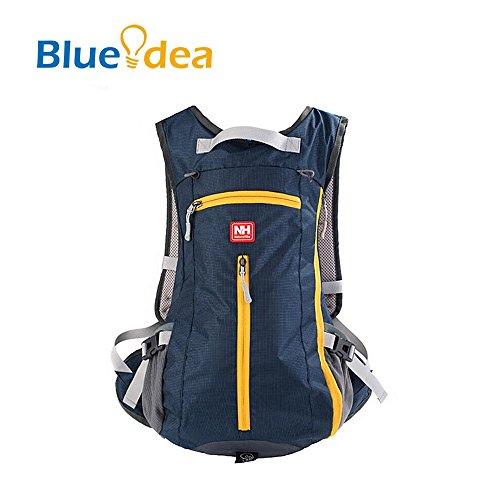 Blueidea® 15L viaggio un'escursione scalata Sacchetto ultra leggero zaino antipioggia Ultralight zaino della bicicletta Daypacks Ciclismo zaino Con Il Casco copertura della rete (Blu marino)