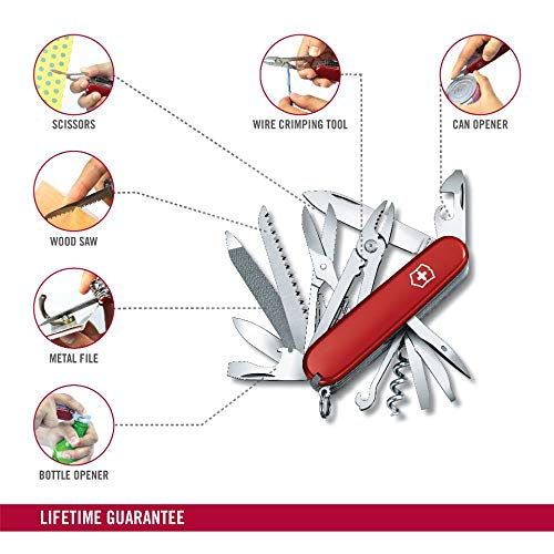 Handyman, coltellino svizzero, rosso