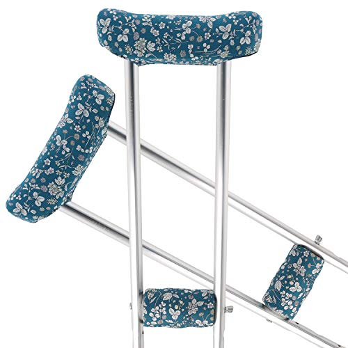 TOMMHANES AMISGUOER Crutch Pads Underarm Crutches Pads Crutch Hand Grip Covers Crutch Pads Washable OneSize (2 Armpit, 2 Hand Cushion) (CP11Y)