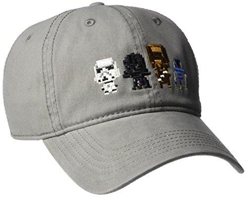 Star Wars mens Star Wars Characters Baseball Cap, Gray Pixels, One Size US