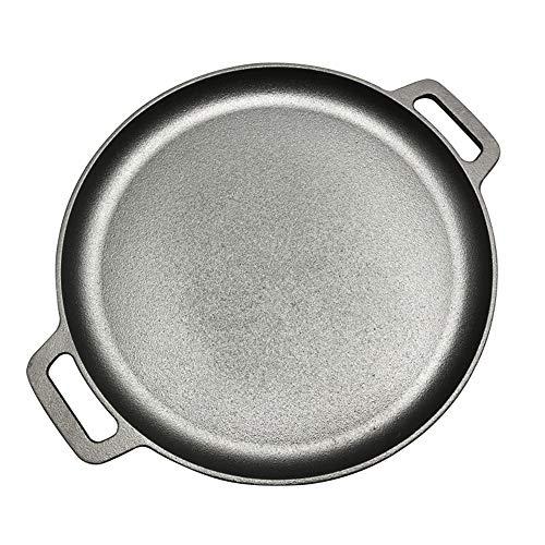 LMJ Outsider Ouderwetse dubbele oren ijzeren pan, koekenpan verdikte hazelnoot ongecoate pannenkoek pot antiaanbaklaag