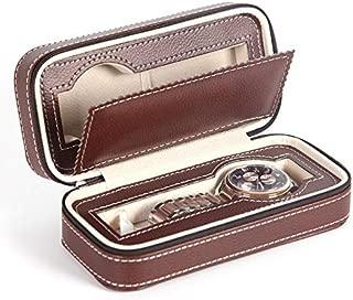 ALEXTREME 2019 New Watch Cases,Watch Box for Men,Watch Organizer,Portable 2 4 8 Grids Travel Watch Box PU Leather Zipper Storage Case Watch Organizer