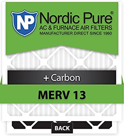 Nordic Pure 16x36x1ExactCustomM13+C-6 MERV 13 + Carbon AC Furnace Filters 6 Piece [並行輸入品]