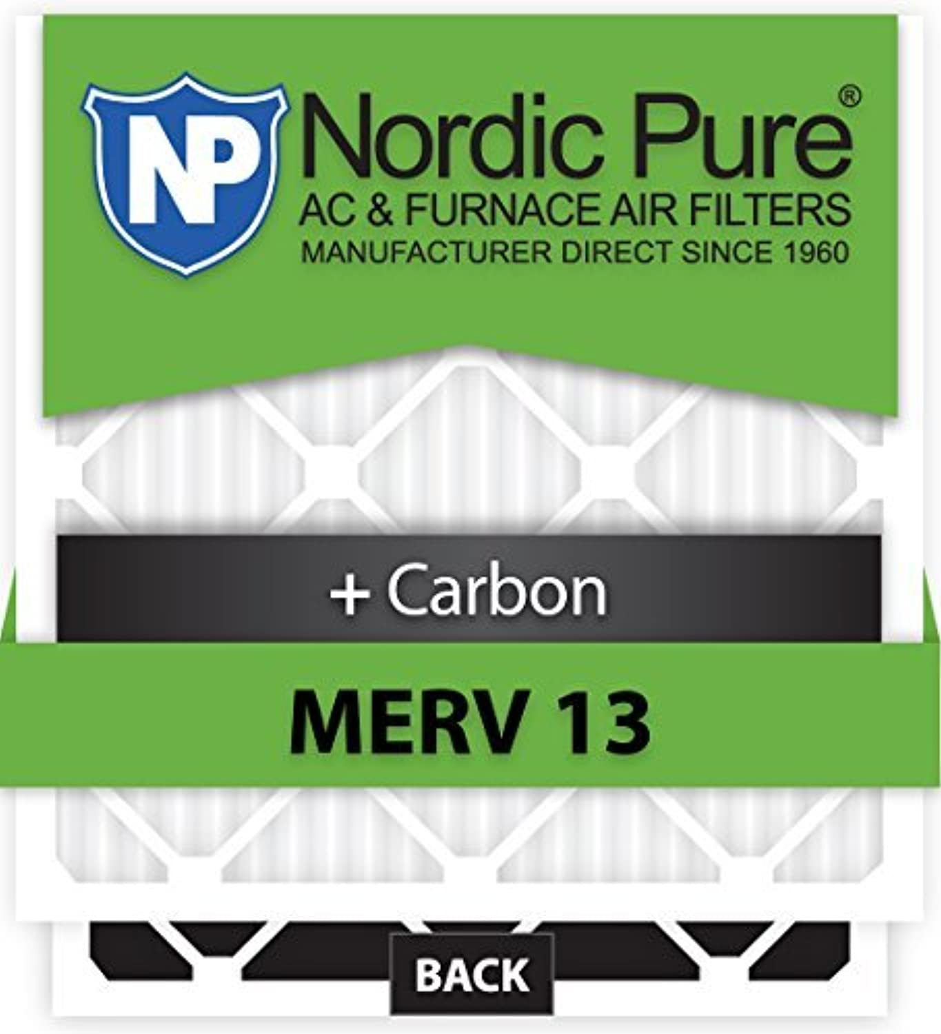 Nordic Pure 29x29x1CustomM13+C-6 MERV 13 + Carbon AC Furnace Filters 6 Piece [並行輸入品]