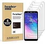 ivoler [Pack de 4] Verre Trempé Compatible avec Samsung Galaxy A6 Plus 2018 / Samsung Galaxy A6+...