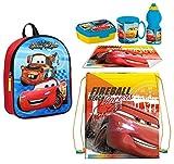 Juego de mochila 3D Cars Rojo Disney Bolsa Deporte merienda Escuela guardería Tiempo libre