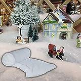 Manta de nieve blanca – 50 cm x 60 cm – gran decoración para una fiesta temática Frozen