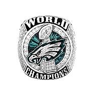 Zoga New Philadelphia Eagles Ring, Super Bowl LII World Foles and Wentz Championship Replica Ring (12, Foles)