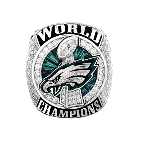 Zoga New Philadelphia Eagles Ring, Super Bowl LII World Foles and Wentz Championship Replica Ring (11, Foles)