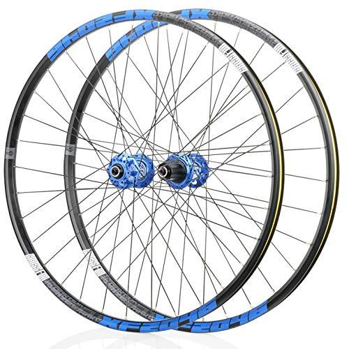 Auoiuoy MTB Bike Wheelset, Doble Pared Lanzamiento rápido Rodamientos sellados HUB Ruedas Ciclismo 32 Agujero Disc Freno 8 9 10 Formación rápida,A-700C