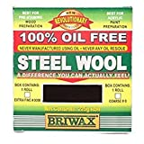 Briwax Steel Wool Lana de acero 0000 225 g, plata