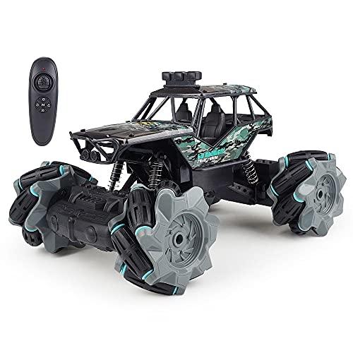 Moerc RC Stunt Coche 1/18 2.4G Sensación de Gesto Control Remoto Stunt Car 4WD RC Drift Coche con batería Recargable Grandes Regalos para niños Juguetes para niños y niñas (Color : 1battery Pack)