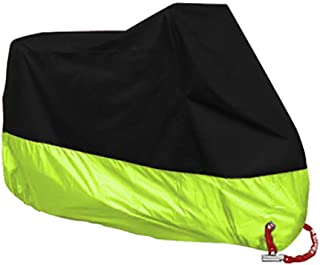 LALEO Universal Motorcycle Cover, Heavy Duty 190T Polyester Cloth Waterproof Dustproof Durable with Safety Lock Holes for Motorcycle Scooter Bike All Weather Outdoor Protection (M-4XL)