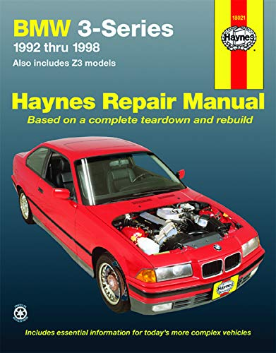 BMW 3 Series 1992 Thru 1998, Also Includes Z3 Models, Haynes Repair Manual