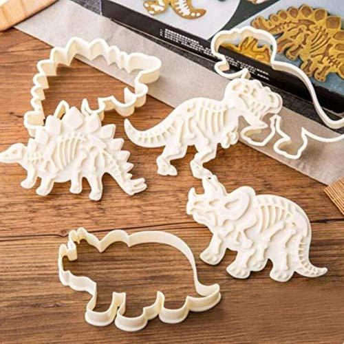 JJDN 6 Dinosaurier Ausstechformen Dinosaurier Ausstecher Keksausstecher Küche Backform Küche Backzubehör