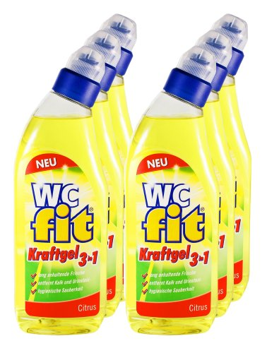 6er Vorteilspack Fit WC-Reiniger WC-Kraftgel 3in1 Citrus 4500 ml