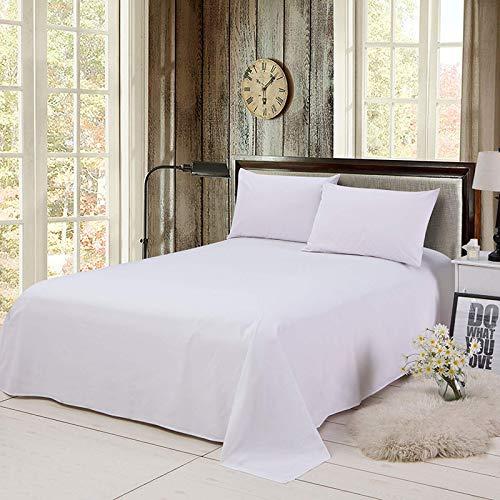 Staubdichte und haltbare Tagesdecke für zu Hause, einfache Baumwolltücher für Vier Jahreszeiten, Schlafsaal-Hotelbedarf, 1,2 m langes Bett in reinem Weiß: 160 * 230 cm