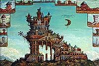 クリスマスパズル5000ピース建築アートアートレジャーゲームおもちゃ家の装飾105 * 181cm