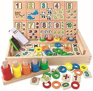 لعبة مكعبات خشبية تعليمية للجنسين من مونتيسوري