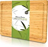 Utopia Kitchen Extra Large Bamboo Cutting Board with Juice Groove...