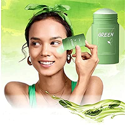 Green Tea Purifying Clay Stick Mask Oil Control Eggplant Solid Fine,Deep Clean Pore/Moisturizing & Hydrating/Oil Control,for All Skin Types by LUCKYY