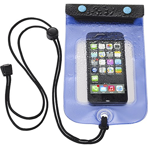 Lewis N. Clark WaterSeals Triple Seal Waterproof Pouch + Dry Bag for Cell Phone or Tablet, Great for Kayak, Canoe, Pool, Beach, Medium (5.6x4.5)