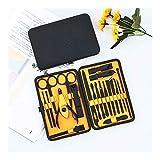 Manicura Nail 20PCS / Set de acero inoxidable de las podadoras y estética kit de manicura pedicura traje con Herramientas de uñas Set Funda de cuero (Color : Yellow)
