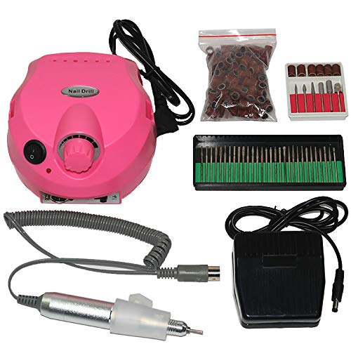 eléctrico Arte de uñas herramienta Taladro eléctrico de uñas de 30000 RPM, máquina de manicura, accesorios, kit de pedicura, taladro de uñas, broca, juego de herramientas para uñas