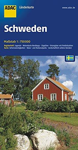 ADAC Länderkarte Schweden 1:750.000 (ADAC LänderKarten)