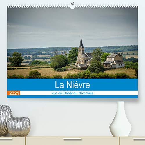 La Nièvre vue du canal du Nivernais (Calendrier supérieur 2021 DIN A2 horizontal)