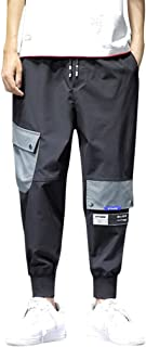ZhixiaYS Casual Pants for Men, Men's Fashion Multi-Pockets Comfortable Drawstring Pants Trousers