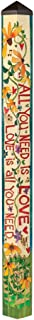 Studio M PL1081 Garden Art Pole, All You All You Need is Love