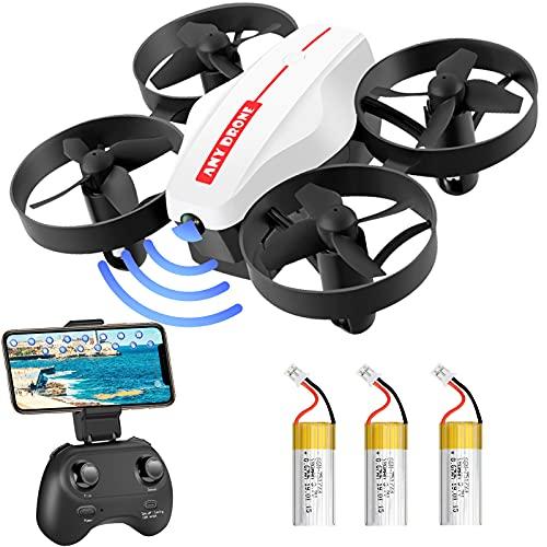 Lunriwis Mini Drohne für Kinder und Anfänger, RC Drone mit Kamera, Quadrocopter Mini Helikopter mit 3 Akkus für 30 Minuten Flugzeit,Verbesserter Propellerschutz, 3D Flip,kopfloser Modus,Höhenhalten