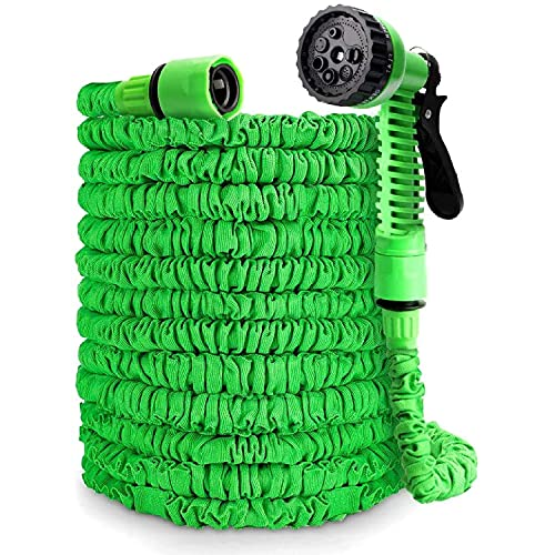 Taylor & Brown 50FT Expanding Garden Water Hose Pipe with 7 Function Spray...