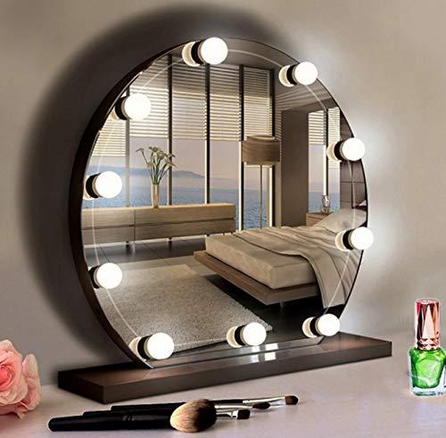 Lixada Kits de Luces de Espejo de Vanidad con 10 Bombillas de Luz Regulable Continua Tira de Accesorio de Iluminación para Maquillaje Juego de Mesa de Tocador en Vestidor Puerto USB