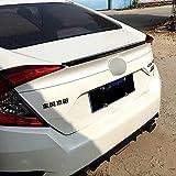 ABS Coche Tronco Alerón Trasero para Civic 10th Generation 2016 2017 2018 2019 2020, Trunk Techo Spoiler Lip Wing, Alerón Labio Del Maletero Tail Lip Wing Accesorios