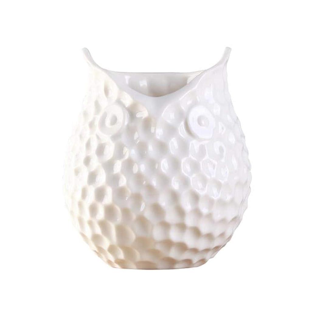 第見通し細分化するHKXR 花瓶花瓶リビングルームのテレビキャビネットダイニングテーブル小さな花瓶装飾プラスチック製の花のホームデコレーション (Color : White)