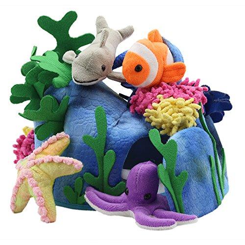 Die Puppet Company Fingerpuppen Hide-Away Puppets, unter dem Meer-Set