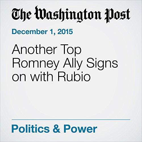 Another Top Romney Ally Signs on with Rubio cover art