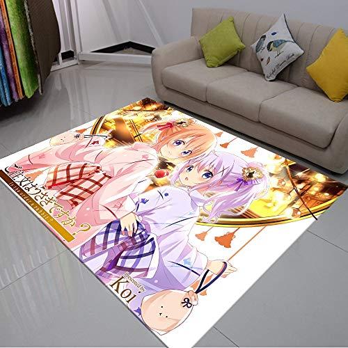 rzskdjgv Ropa De Anime Japonés Kimono Alfombra De Niña Alfombra De Habitación De Niño Alfombra De Dormitorio De Sala De Estar De Impresión 3D 160X230Cm