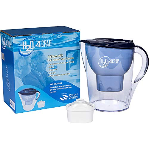 H2O 4 CPAP Ion Distilled Water System for CPAP or BiPAP Humidifier Water Chamber   CPAP Supplies & Accessories for Sleep Apnea   Removes Harmful Calcium & Minerals from Tap Water