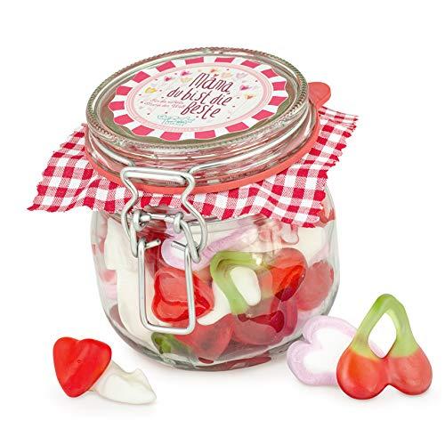 Mamas kleine Liebe - kleines Glas mit leckerem Süßigkeiten-Mix, süßes Mutter-Tags-Geschenk