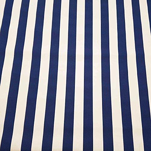 Stoff Meterware Markisenstoff Blockstreifen blau weiß gestreift UV beständig Sichtschutz